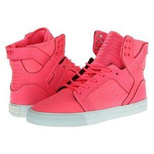 SUPRA - Neon Hot Pink High Top Sneakers